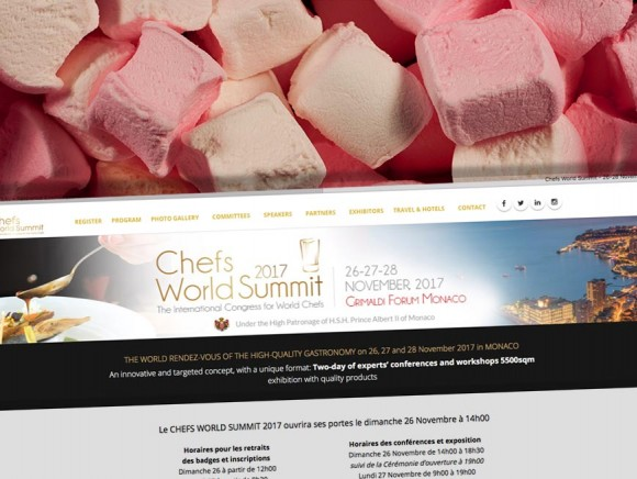 Kalys au Chefs World Summit 2017 à Monaco