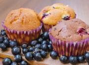 Muffins sans œufs aux cassis