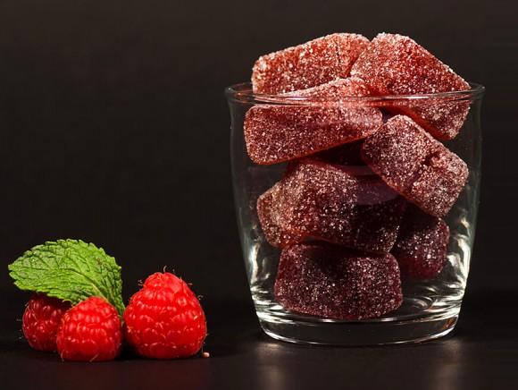 Pâte de fruit à la framboise