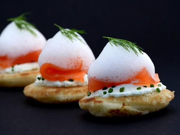 Toast saumon écume citron